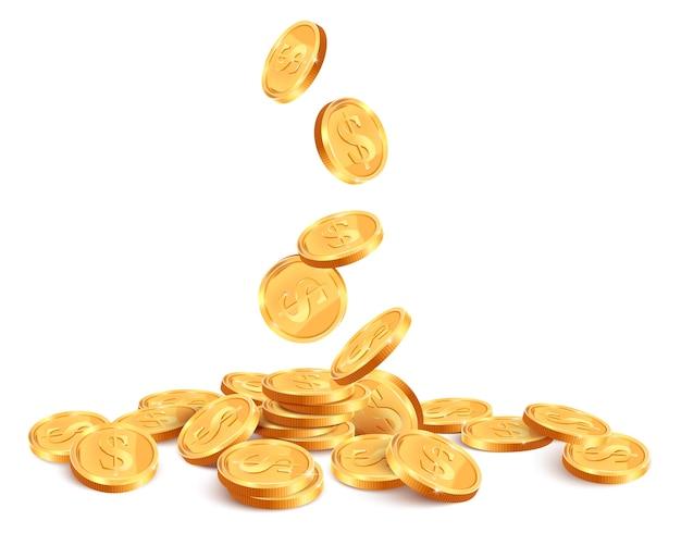黄金のコインのイラスト