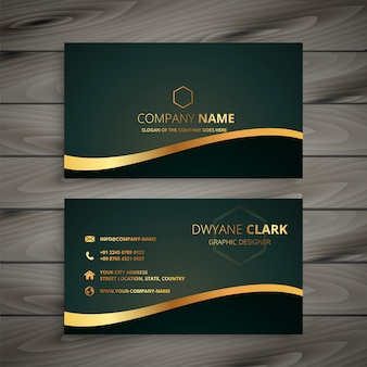 Golden company business card