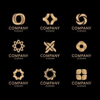 Golden company logo collection