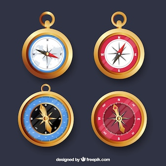Golden compass collection of four