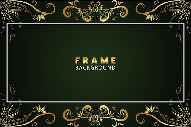 Золотая концепция цветочная рамка фон