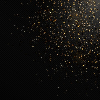 검은 색에 황금 색종이와 반짝이 텍스처