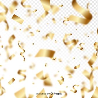 Coriandoli dorati che cadono sfondo decorativo