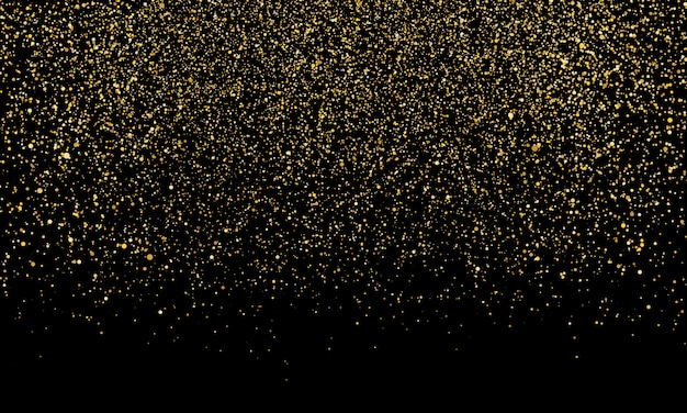 Golden confetti. gold abstract particles.