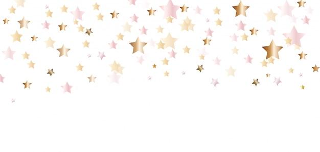 Golden confetti illustation
