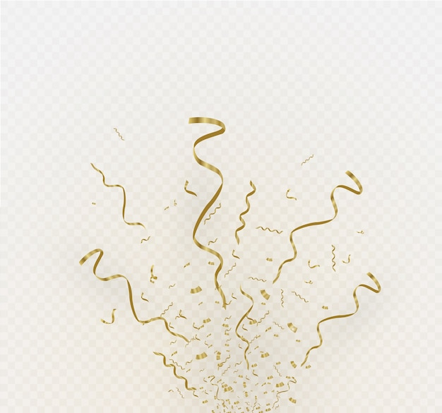Golden confetti isolated on cellular background