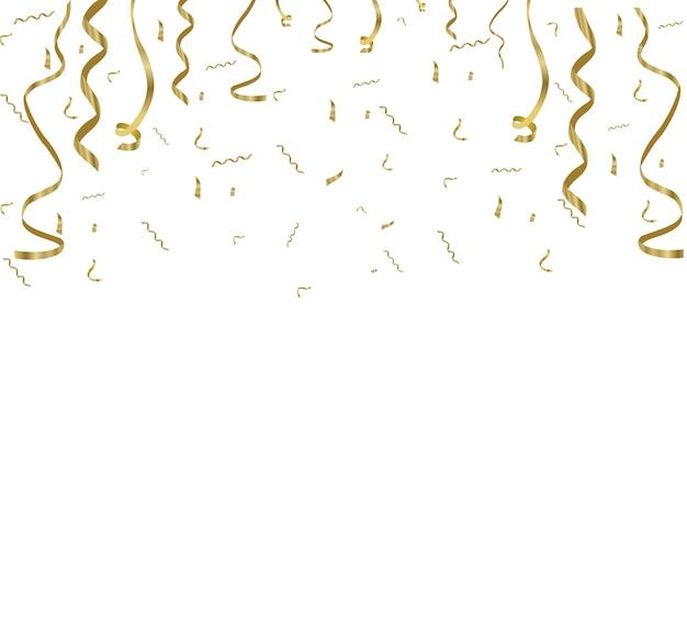 金色の紙吹雪、携帯電話の背景に分離