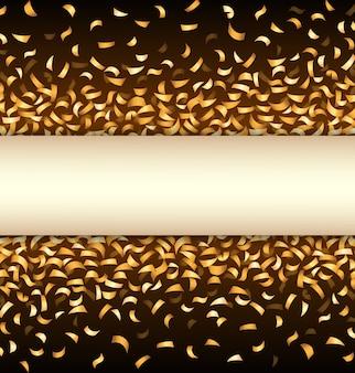검은 바탕에 황금 색종이