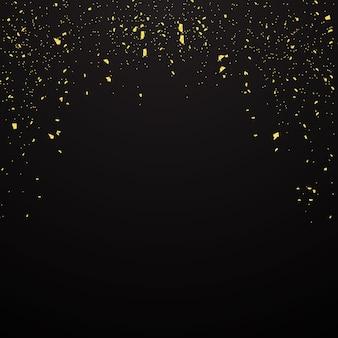 황금색 색종이 프리미엄 벡터