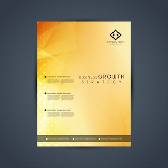 Golden corporate brochure