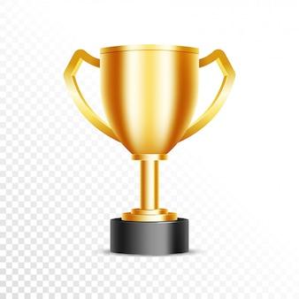 Golden cricket winning trophy.