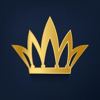 Golden crown on blue background vector