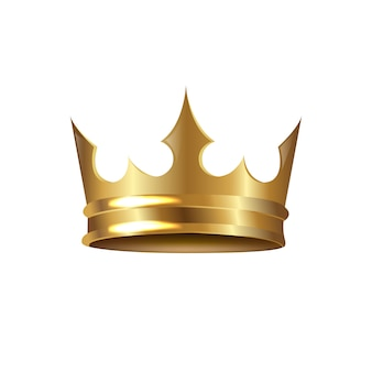 Golden crown isolated
