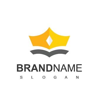 Golden crown logo design template