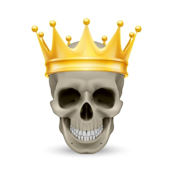頭蓋骨の黄金の王冠