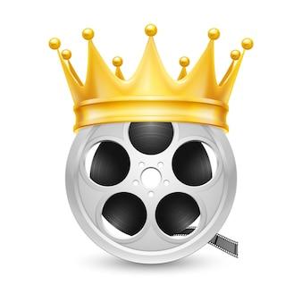 Golden crown on tape reel