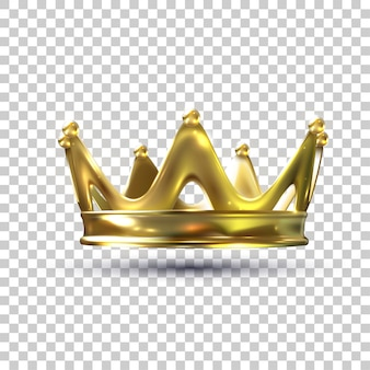 Golden crown with gradient mesh illustration
