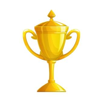 Золотой кубок трофей значок, спортивная победа золотая награда