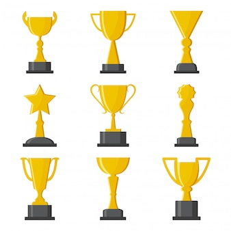 Golden cups award.   illustration