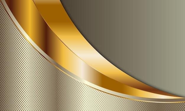 線の背景と金色の湾曲したテクスチャ。ベクトルイラスト。ビジネスデザインに。