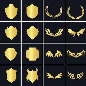 Golden decorative elements