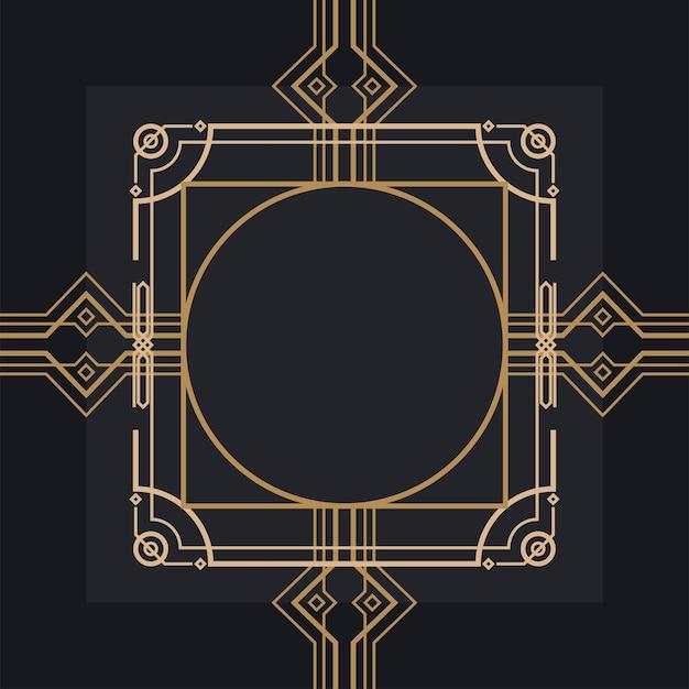 金色の装飾フレーム