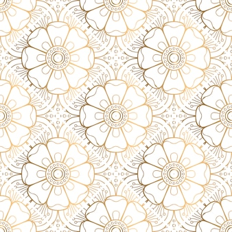 Golden decorative mandala pattern