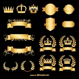 Golden design elements