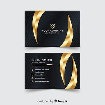 Golden detail business card template