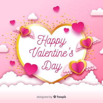 Golden details valentine's day background