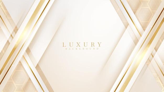 パターンの金色の斜めの線の豪華な背景、モダンなカバーデザイン。招待カードテンプレートの概念。ベクトルイラスト。