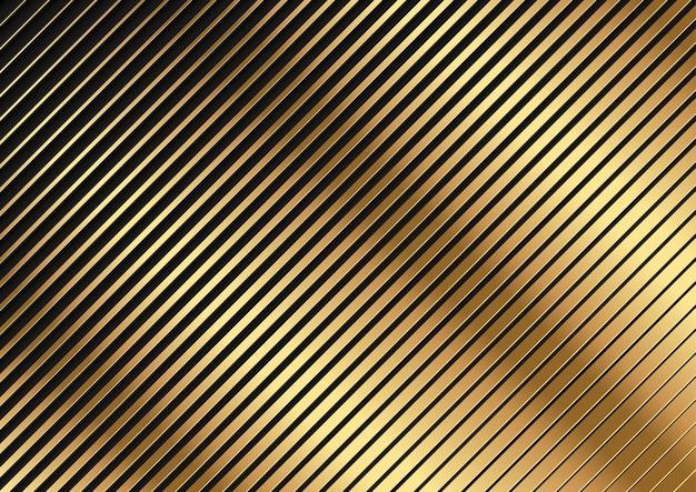 黄金の斜め縞模様の背景