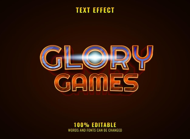 Golden diamond glory game rpg medieval logo title text effect