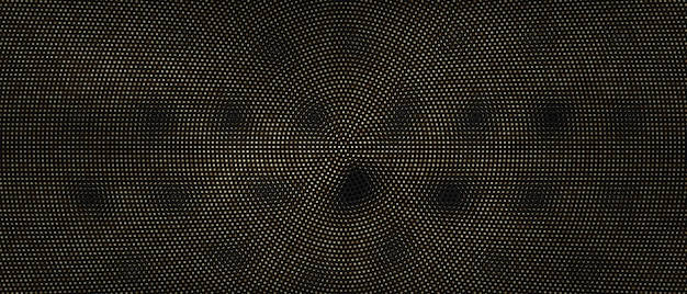 Golden dot abstract radial background .