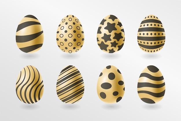 Коллекция золотых пасхальных яиц
