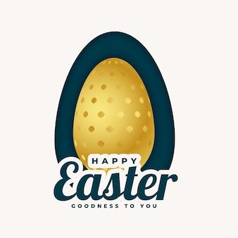 Disegno dorato dell'uovo di pasqua