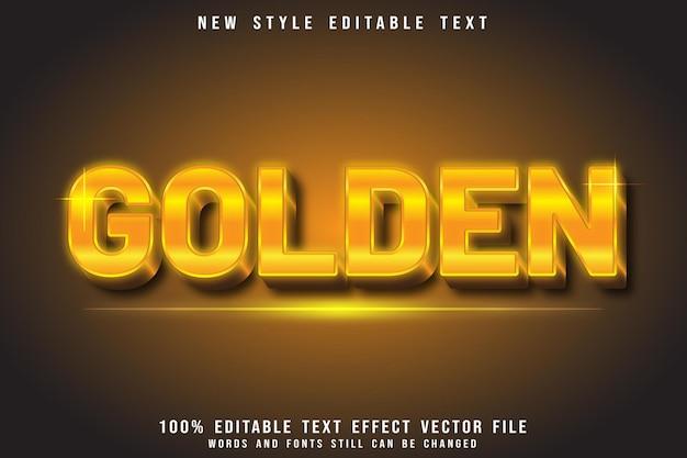 Golden editable text effect emboss luxury style