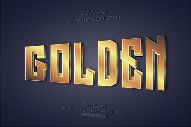 Golden editable text effect font style