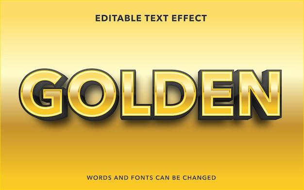 Golden editable text effect style