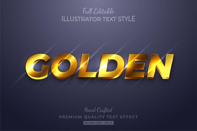 Golden editable  text style effect premium