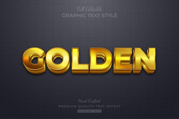 Golden editable text style effect