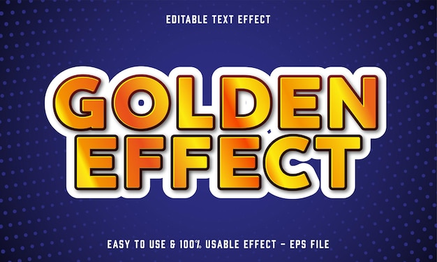 Golden effect editable text effect