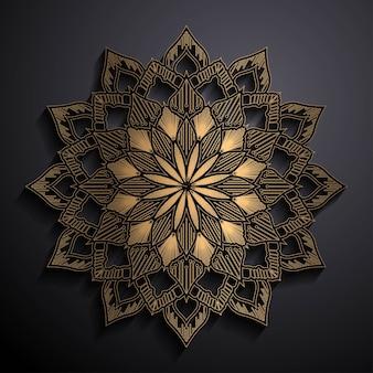 Golden effect luxury mandala
