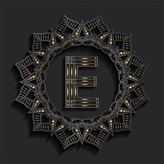 Golden effect monogram logo