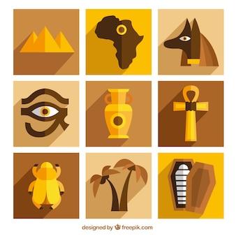 黄金のエジプトの要素