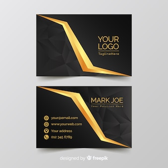 Golden elegant business card template