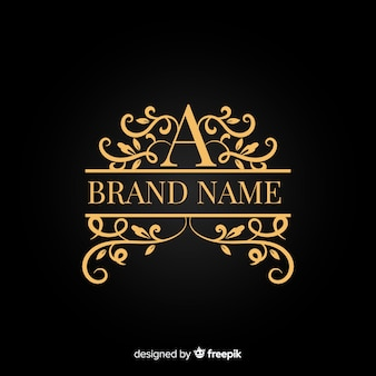 Golden elegant company ornamental logo