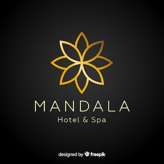 Golden elegant corporative logo template