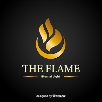 Golden elegant corporative logo template