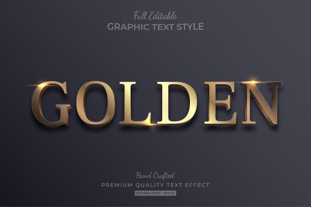 Golden elegant editable text effect font style Premium Vector